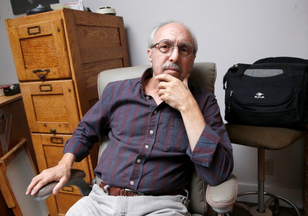 Dr. Lonny Shavelson is photographed at his home in Berkeley, Calif., on Wednesday, May 30, 2018. To the right is his medical bag which he used to make house calls. Shavelson is a palliative care doctor who assists patients who are using the state's End of Life Option Act, which is now on hold after the Riverside Superior Court struck it down. (Jane Tyska/Bay Area News Group)