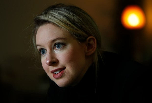 Elizabeth Holmes dropped out of Stanford in 2003 as a 19-year-old to start Theranos, a company now poised to disrupt the medical diagnostic test market. She spoke about the company's vision at their headquarters in Palo Alto, Calif., Thursday afternoon July 3, 2014. (Karl Mondon/Bay Area News Group)