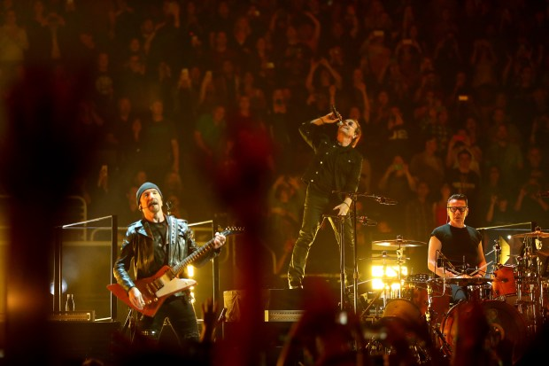 U2 performs May 7 2018 at SAP Center in San Jose. (Credit SAP Center Photographer)