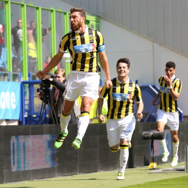 Central defender Guram Kashia has left Dutch club Vitesse for the San JoseEarthquakes, who need reinforcement on the backline. (Photo courtesy of Vitesse) Can use online Can use in other DFM publications