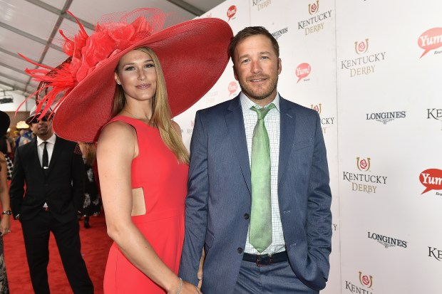 LOUISVILLE, KY - MAY 06: Morgan Beck and Bode Miller attend the 143rd Kentucky Derby at Churchill Downs on May 6, 2017 in Louisville, Kentucky. (Photo by Gustavo Caballero/Getty Images for Churchill Downs)