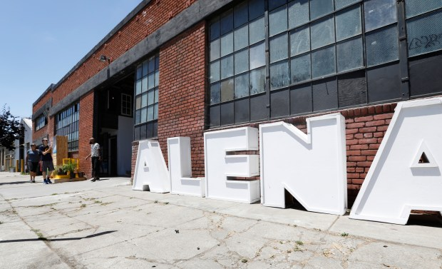 The outside of the Alena Museum is photographed in Oakland, Calif., on Friday, June 15, 2018. The Alena Museum, an art gallery dedicated to supporting work that reflects on the African diaspora, is fighting to keep its space in fast-gentrifying West Oakland. (Laura A. Oda/Bay Area News Group)