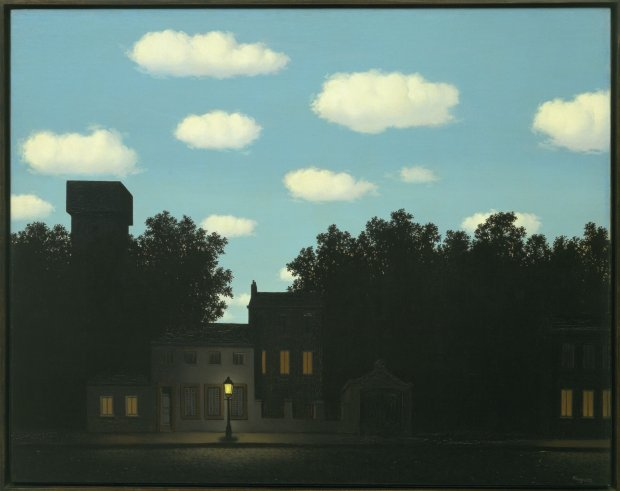 René Magritte, The Dominion of Light, 1950; oil on canvas; The Museum of Modern Art, New York, gift of D. and J. de Menil ; © Charly Herscovici, Brussels / Artists Rights Society (ARS), New York