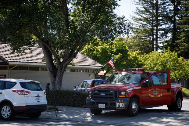 At least 35 people, including kids, were exposed to a dangerous mixture of chemicals on June 14, 2018, at the Shadow Brook Swim Club in Almaden Valley in San Jose. (Dai Sugano/Bay Area News Group)