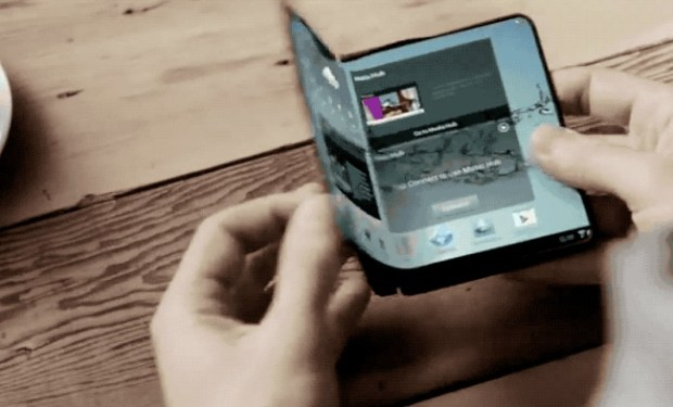 In a 2013 presentation at CES, Samsung showed this video of a concept folding phone. (Courtesy of Samsung/YouTube)