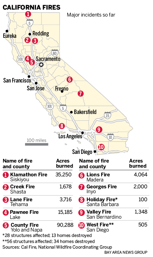Fire Map California July 2018.Why California Fire Season Is Off To Worst Start In 10 Years
