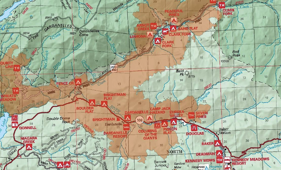 Fire origins mark the fire fighter's best guess of where the fire started. California Fire Map New Wildfires Close Roads In Sierra
