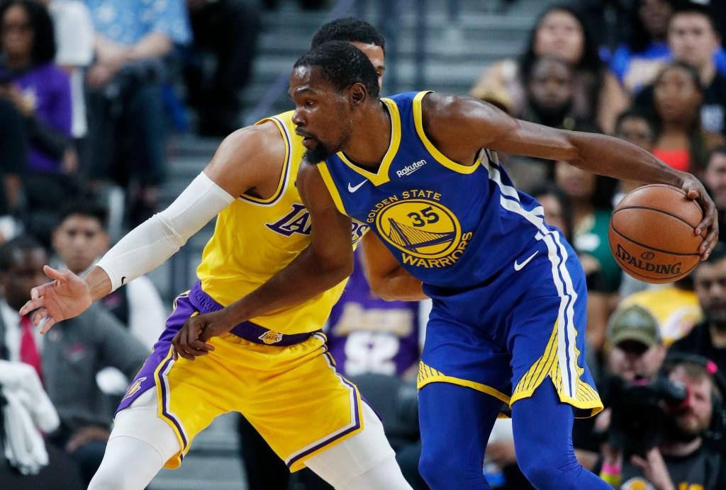Warriors Lakers Pre Season Game Sparked Post Season Buzz