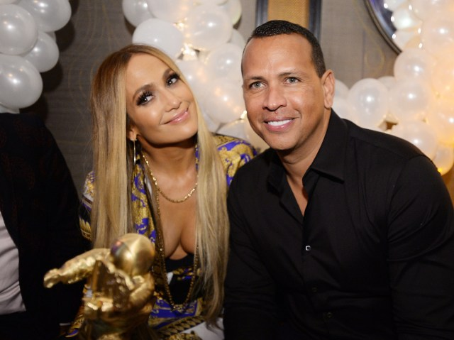 Jennifer Lopez And Alex Rodriguez Attend Jennifer Lopezs Mtv Vmas Vanguard Award Celebration At Beauty Essex On August 21 2018 In New York City
