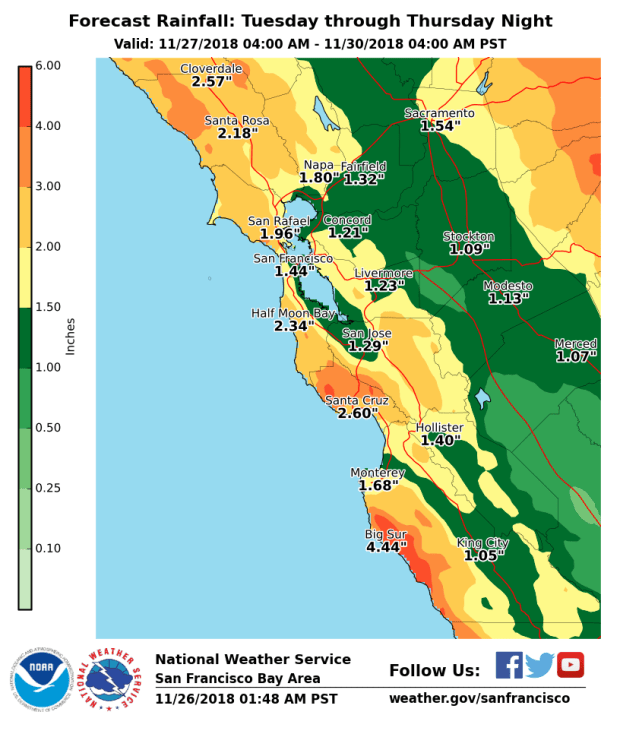 Storms To Soak Bay Area Through Friday Marin Independent Journal North, east, south of san francisco. storms to soak bay area through friday