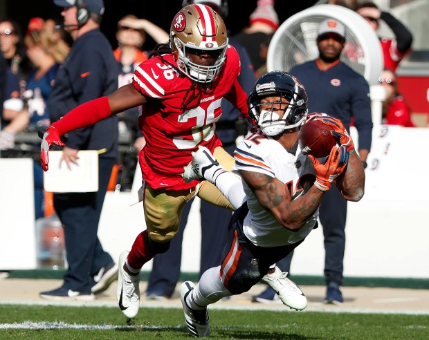 premium selection 15904 3a3f3 49ers camp: Florida product Marcell Harris sizzles at safety