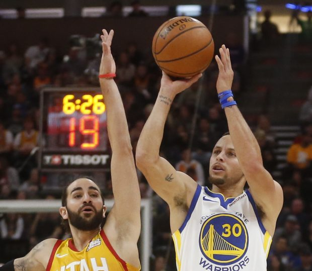 0eddc357738 Warriors  offense disappears in loss to Jazz