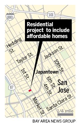 新的圣何塞市中心住宅项目将包括负担得起的单位和残疾人住房