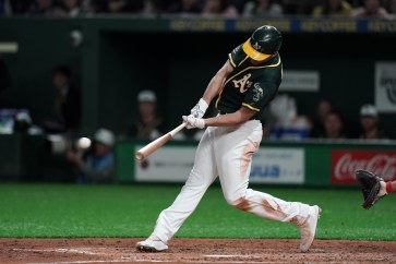 Oakland A's Matt Olson talks about hand injury post-surgery