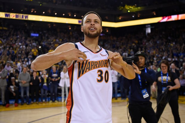 The Warriors\' jerseys were a perfect tribute to Oracle Arena