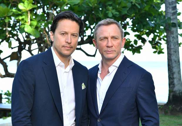 "9ad949d693 Director Cary Joji Fukunaga and actor Daniel Craig attend the ""Bond 25"" film  launch at Ian Fleming's home ""GoldenEye"" Montego Bay, Jamaica."