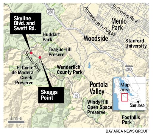 当代表调查凶杀案时,他们找到了第二名受害者,怀疑在同一段Skyline Boulevard