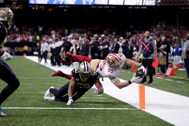 49ers' George Kittle: Voodoo necklace, bully football rule the day