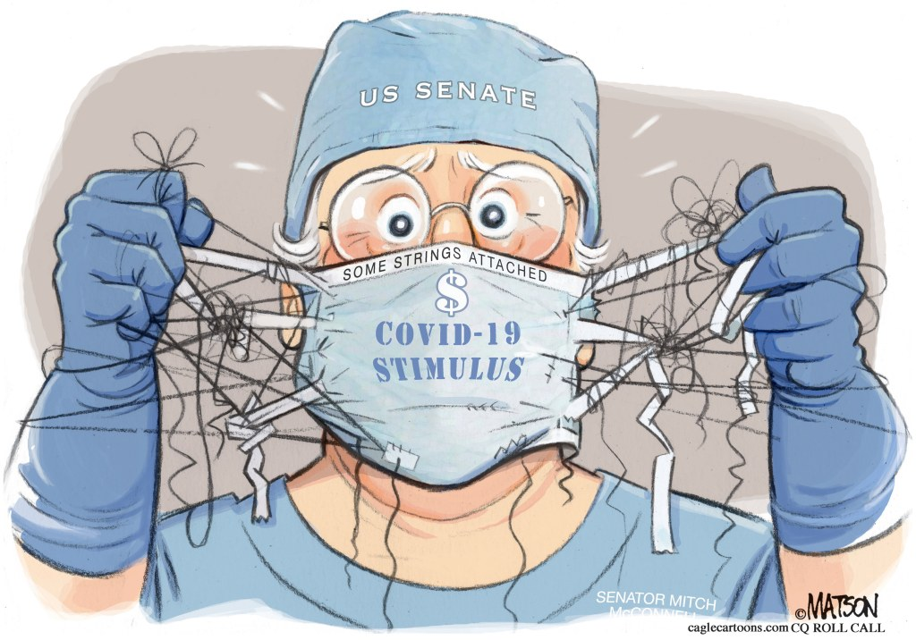 Coronavirus Cartoons Congress Nears Deal On Stimulus Package