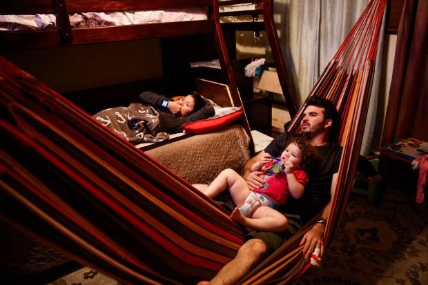 Yanira Perez, left, and her family ...
