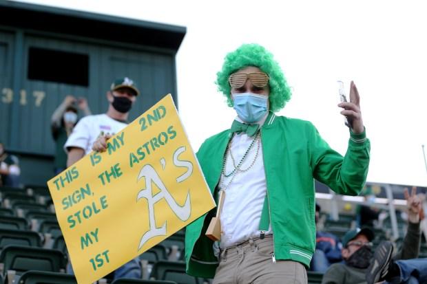 Photos: Oakland Athletics host Houston Astros on Opening Day 2