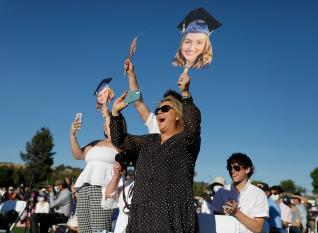 Photos: Leland High School honors their Class of 2021 with two socially distanced graduation ceremonies 14