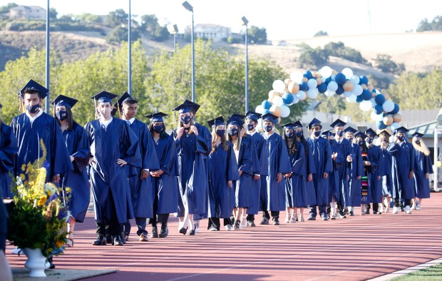Photos: Leland High School honors their Class of 2021 with two socially distanced graduation ceremonies 3