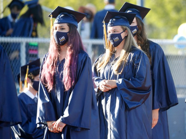 Photos: Leland High School honors their Class of 2021 with two socially distanced graduation ceremonies 5