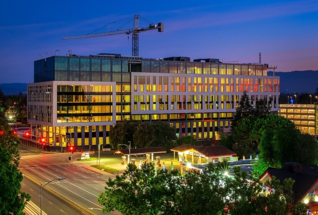 Modern office building next to San Jose's Santana Row is completed, ready for tenants 3