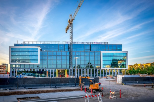 Modern office building next to San Jose's Santana Row is completed, ready for tenants 2