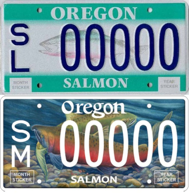 Oregon's old fish license plate is being replaced