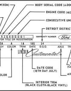 Lincoln continental vehicle identification by warranty plate also vin rh mercurystuff