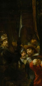 Detail of the man with halberd