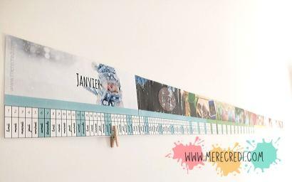 calendrier fonctionnement poutre du temps comment aider son enfant à se repérer dans le temps frise temps affichée sur le mur du couloir