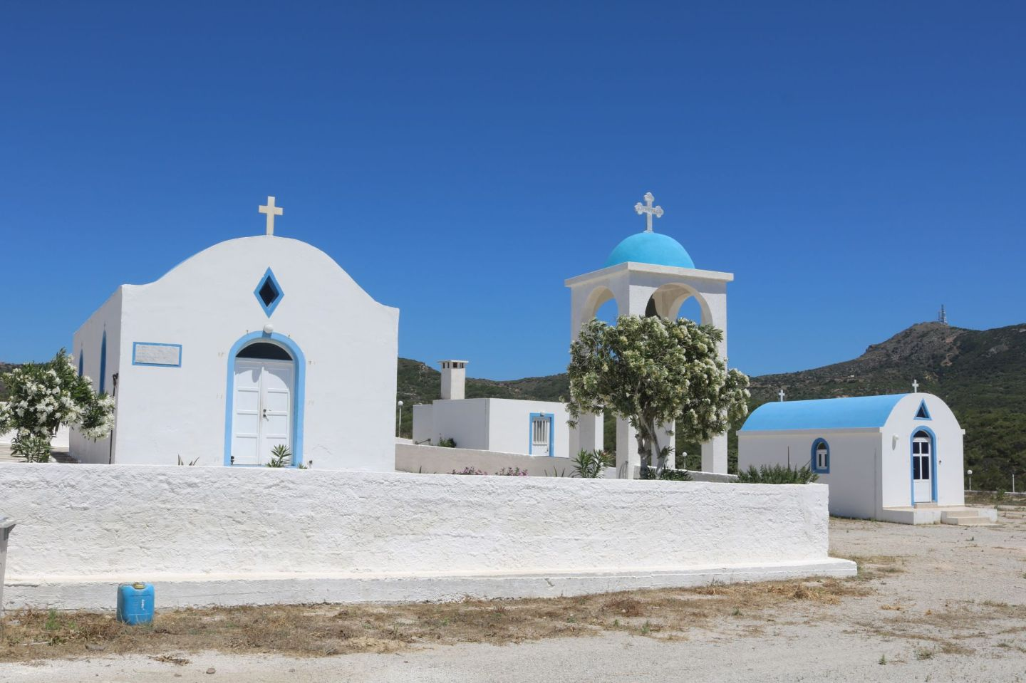 Greek blue chapel