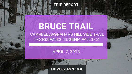 BRuce Trail: Campbells/Grahams Hill Side Trail, Hoggs Falls, Eugenia Falls CA