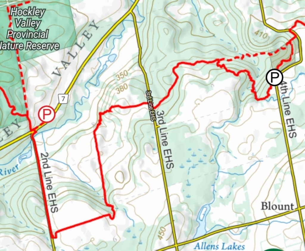 Hiking the Bruce Trail from 4th Line EHS to 2nd Line EHS, through Hockley Valley Resort - Mono, Ontario - Merely McCool