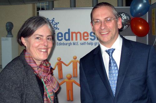 Liz Blackadder (EDMESH) with Jim Eadie MSP