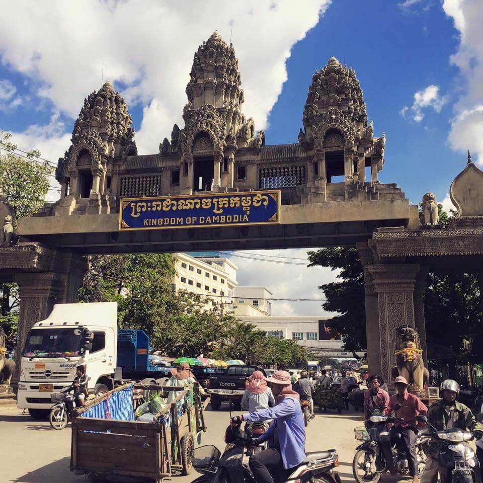 going through the border between thailand and cambodia