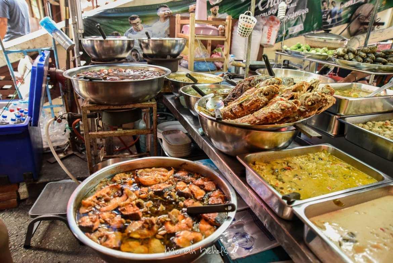 food at Amphawa Floating Market