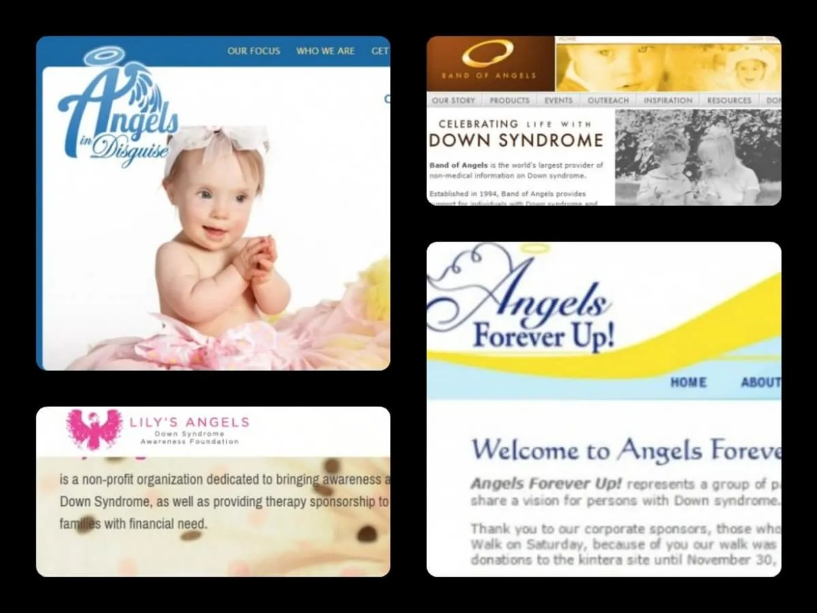 "Down Syndrome Angel - a few organizations that use ""angel"" in connection with ""Down syndrome"""