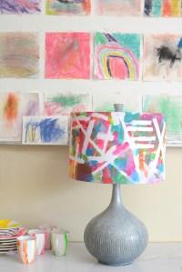 100% Kid Made Neon Lampshade - Meri Cherry