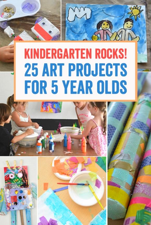 Kindergarten Rocks - 25 Art Projects for 5 Year Olds ...