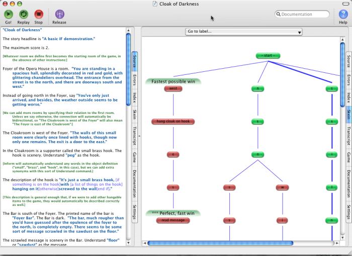 Eigene Text-Abenteuerspiele unter OS X schreiben