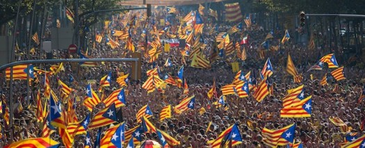 Catalogna - manifestazione per l'indipendenza