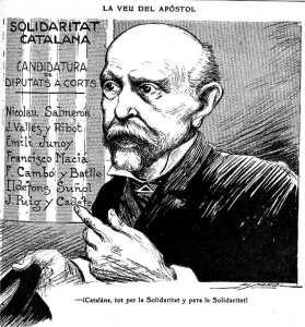 Catalogna: Cartell de la Solidaritat Catalana; candidatura de diputats a corts 1907