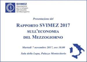 Rapporto SVIMEZ 2017