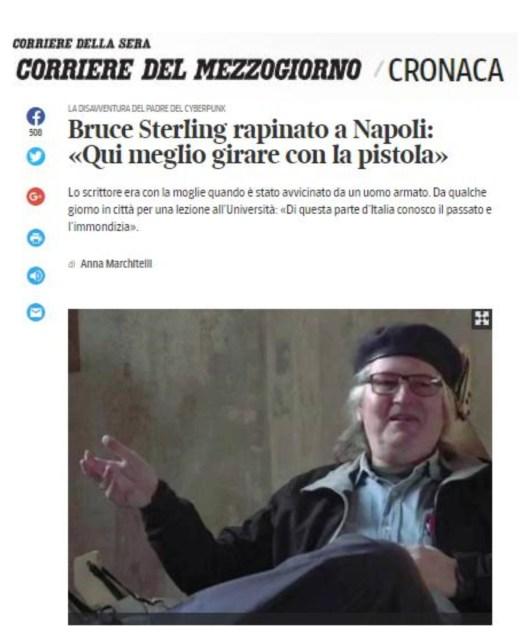 sputtana napoli - Corriere del Mezzogiorno fake news 8 dicembre 2017