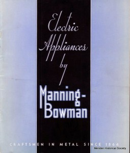 Electric Appliances by Manning-Bowman - beautiful Art Deco styling!