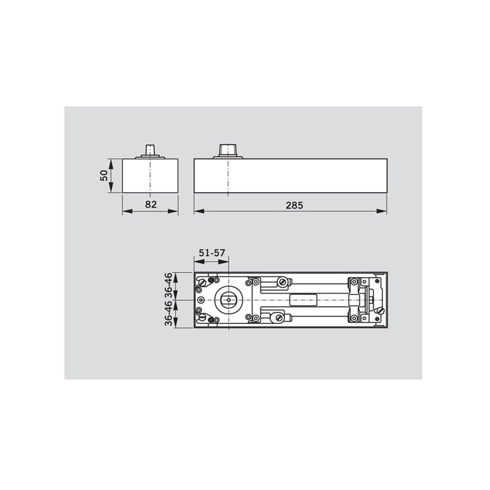 hight resolution of stainless steel bts75v floor spring door closer